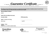 CFR Roofing's 20-year Guarantee Certificate
