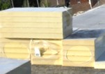 Flat roof insulation blocks